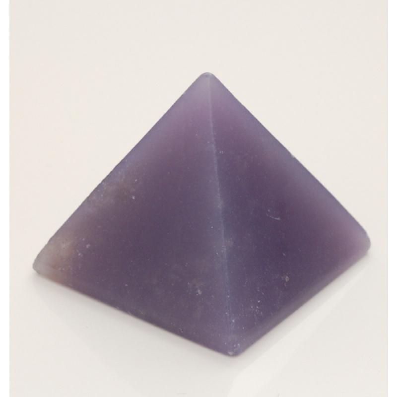 Piramide in Calcite Blu
