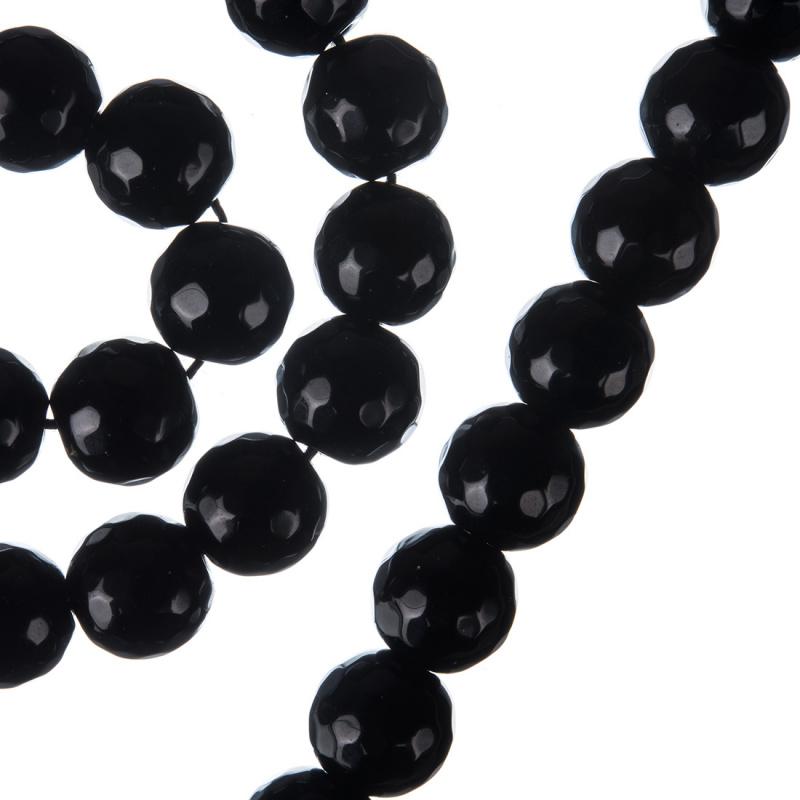 Ossidiana Nera - Sfera sfaccettata da 10mm