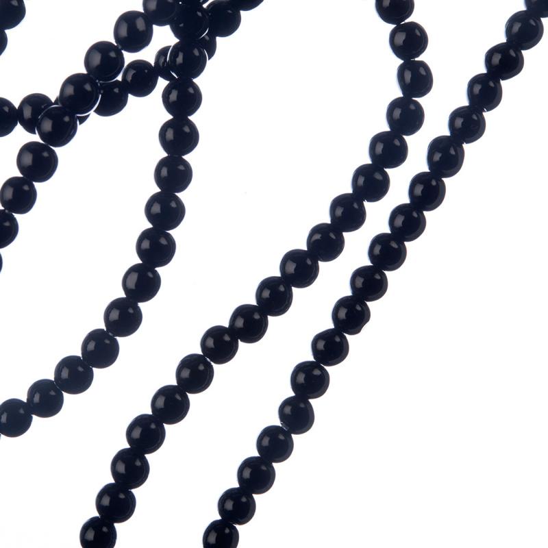 Ossidiana Nera - sfera liscia da 4mm