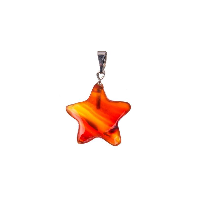 Ciondolo a stella in Corniola