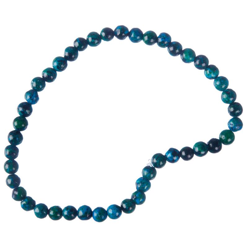 Cavigliera Unisex a sfere di Azzurrite