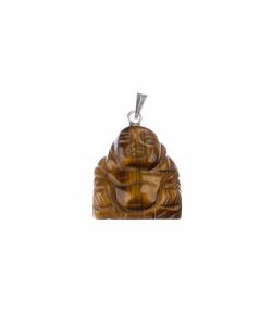 Ciondolo unisex in Occhio di Tigre - Buddha