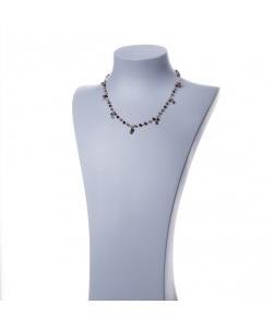 Collana rosario in Tormalina Multicolor e Argento 925