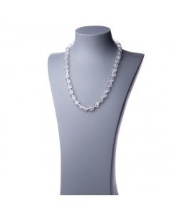 Collana lunga in Cristallo di Rocca e Argento - 60 cm