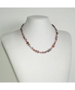Collana Corta di Spinello multicolore e Argento 925