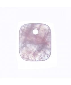 Ciondolo Unisex in Quarzo rosa levigato