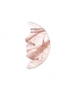 Ciondolo Unisex in Quarzo Rosa levigato -  Luna