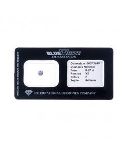 Diamante garantito con Gift Box - F/IF - da 0,11 a 0,19 carati