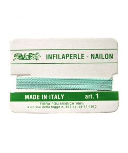 Filo Infilaperle in Nylon con ago - Acqua - Diametro da 0.4 a 0.9 mm