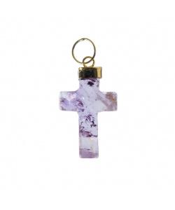 Ciondolo a croce di Ametista