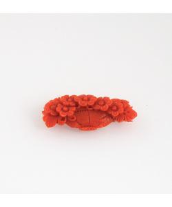 Ciondolo in Corallo Rosso intagliato
