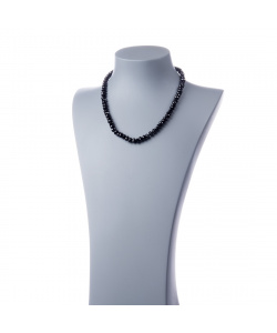 Collana di Spinello Nero e Argento 925 rodiato