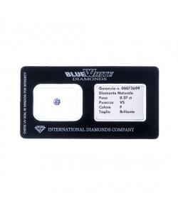 Diamante garantito con Gift Box - F/VS - da 0,11 a 0,19 carati