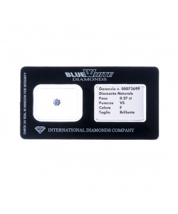 Diamante garantito con Gift Box - F/VS - da 0,05 a 0,10 carati