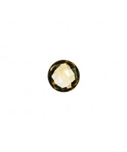 Gemma di Quarzo Citrino - 1.6 carati - Tondo 0.8 diametro