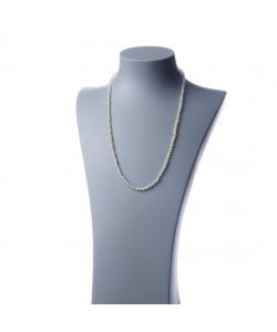 Collana lunga New Jade e Ag 925, sfere 4mm