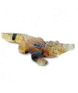 Coccodrillo scolpito nell' Ambra