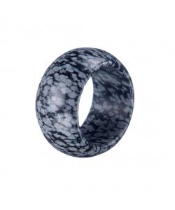 Anello All Stone in Ossidiana Fiocco di Neve - Large