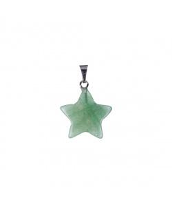 Ciondolo a stella in Avventurina Verde