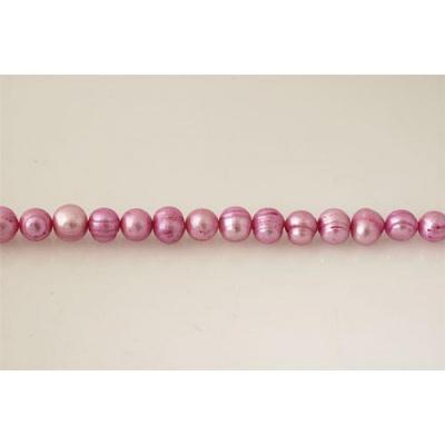 Filo di Perle colorate Rosa 10 - 11 mm