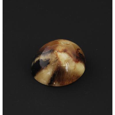 Cabochon in Ambra del Baltico - Ovale 3.4x3.8x1.8