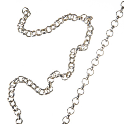 Catena in Argento 925 trama Cross Chain - 50 cm.