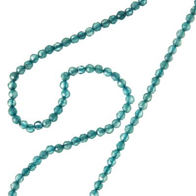 Agata Azzurra - Filo di sfere sfaccettate da 2mm