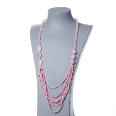 Collana di sfere in Quarzo Rosa