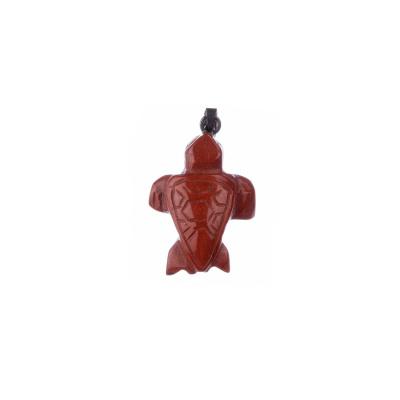 Ciondolo Unisex in Diaspro Rosso - Tartaruga marina