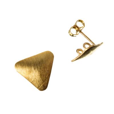 Orecchino a farfallina in Argento 925 - Triangolare diametro 1.3 cm - 2 pz.