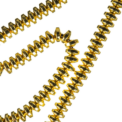 Ematite - filo di rondelle lisce da 6 mm color Oro