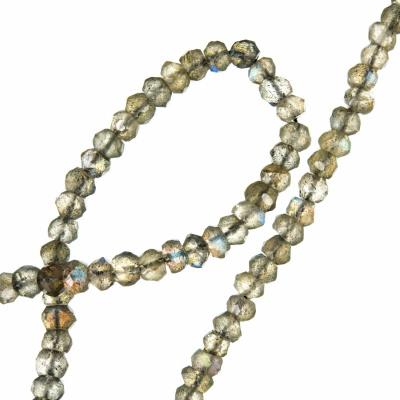 Labradorite - filo di rondelle sfaccettate da 4 mm