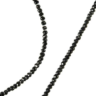 Agata Nera - Filo di rondelle da 3 mm