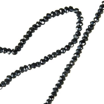 Ematite - filo di rondelle sfaccettate da 3 mm