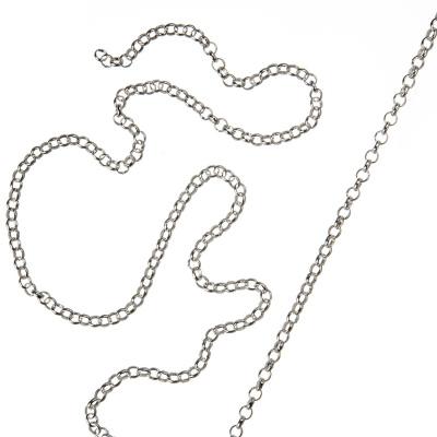 Catena in Argento 925 trama Rolo Chain - 50 cm.