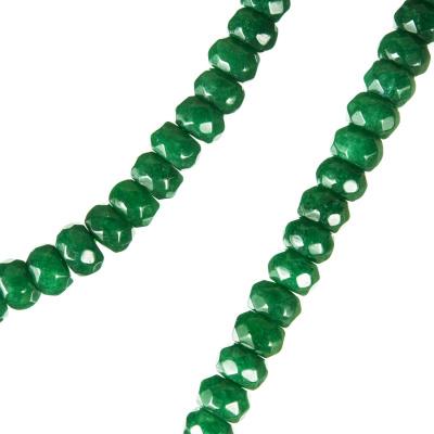 Radice Di Smeraldo - Filo di rondelle sfaccettate - 6mm