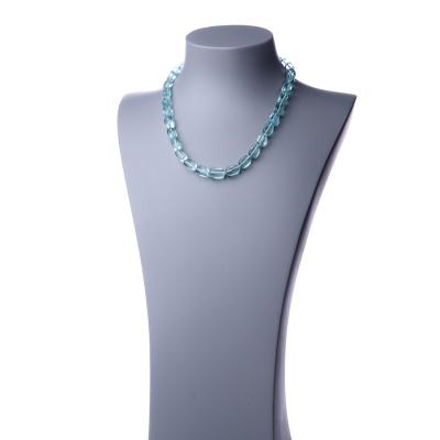 Collana corta in Ossidiana Nobile e Argento 925 - 48 cm