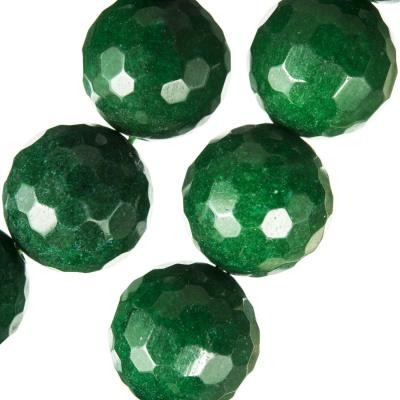 Radice Di Smeraldo - Filo di sfere sfaccettate - 18 mm