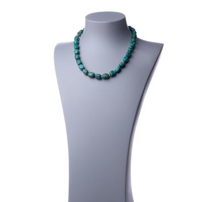 Collana corta in Amazzonite e Argento 925 - 48 cm