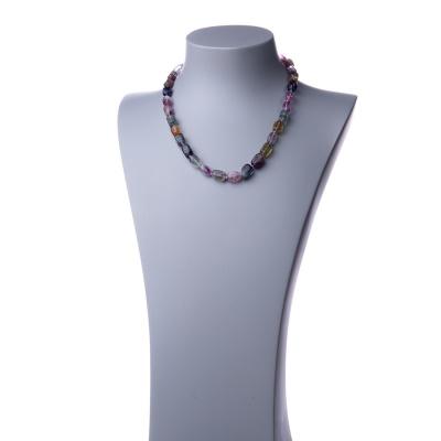 Collana corta in Fluorite e Argento 925 - 48 cm