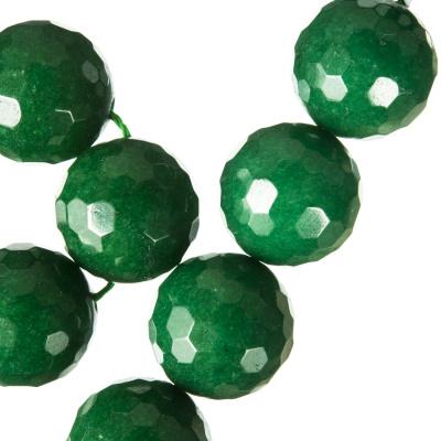 Radice Di Smeraldo - Filo di sfere sfaccettate - 16mm
