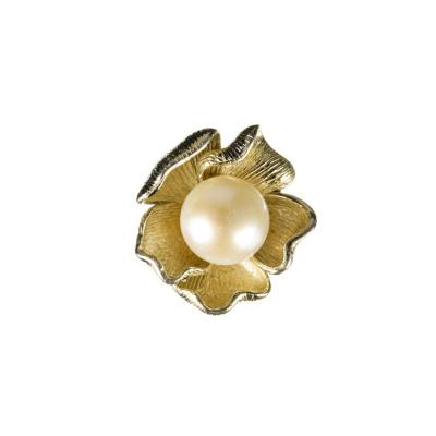 Ciondolo a fiore con Perla e Argento 925