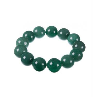 Bracciale Elastico a Sfere da 16mm di Agata Verde