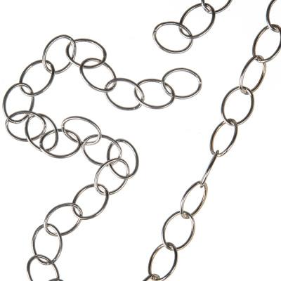 Catena in Argento 925 trama Oval Cross Chain - 50 cm.
