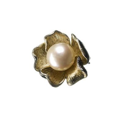Ciondolo Fiore di Perla tonda e Argento 925
