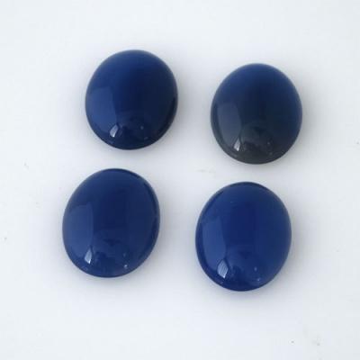 Cabochon in Agata Blu - Ovale 1.3x1.8x0.5