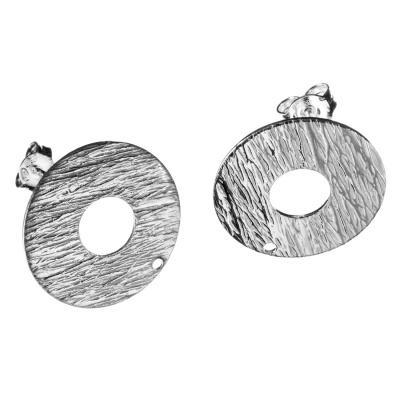 Orecchino a farfallina in Argento 925 - Tondo diametro 2 cm - 2 pz.