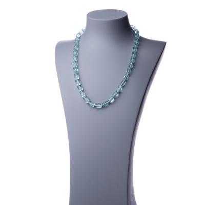Collana Lunga di Ossidiana Nobile burattata - 60cm