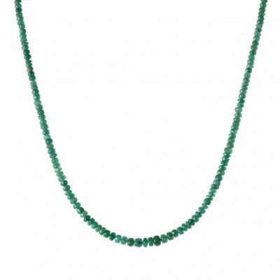 Collana di rondelle di Smeraldo ed Argento 925