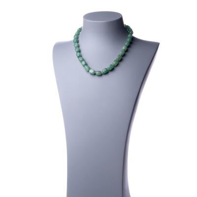 Collana Corta di Avventurina Verde burattata - 48cm